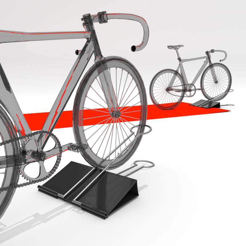 Huge Clip – Bicycle parking rack Design(サイクルラックデザインコンセプト)