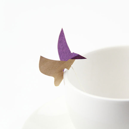 Origami flying teabag tag(ティーバッグ タグデザイン)