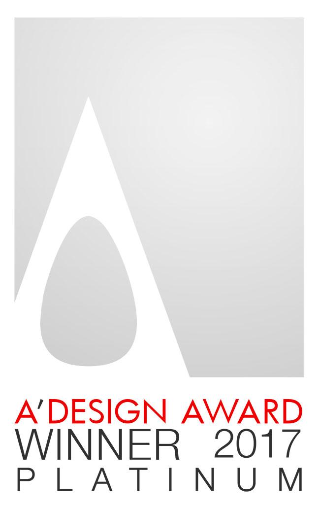 A' Design Award 2017 PLATINUM(プラチナ賞・部門別最優秀賞)(ミラノ)