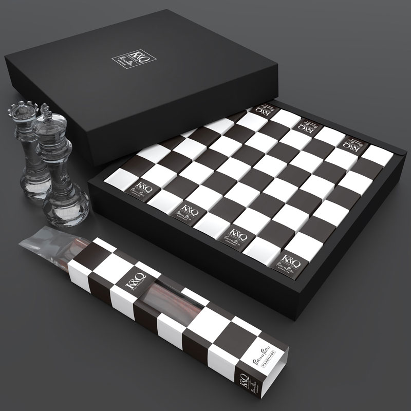 K&Q – Chess Stick Cake Packaging
