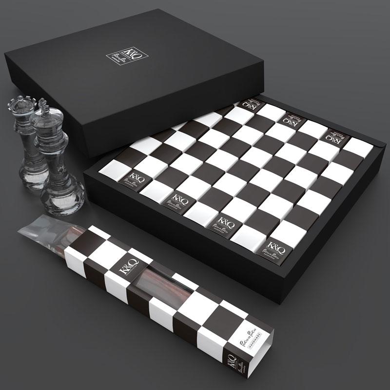 K&Q – Chess Stick Cake Packaging