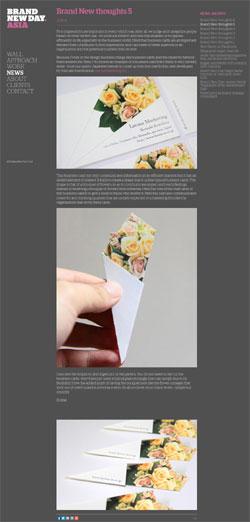 BOUQUET Business card 海外デザインコンサルティング会社からのコメント(日本語訳)