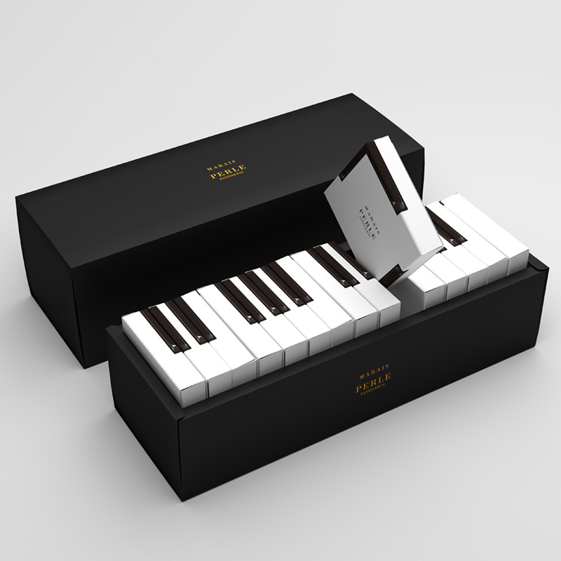 MARAIS – Piano cake packaging(パッケージデザイン)