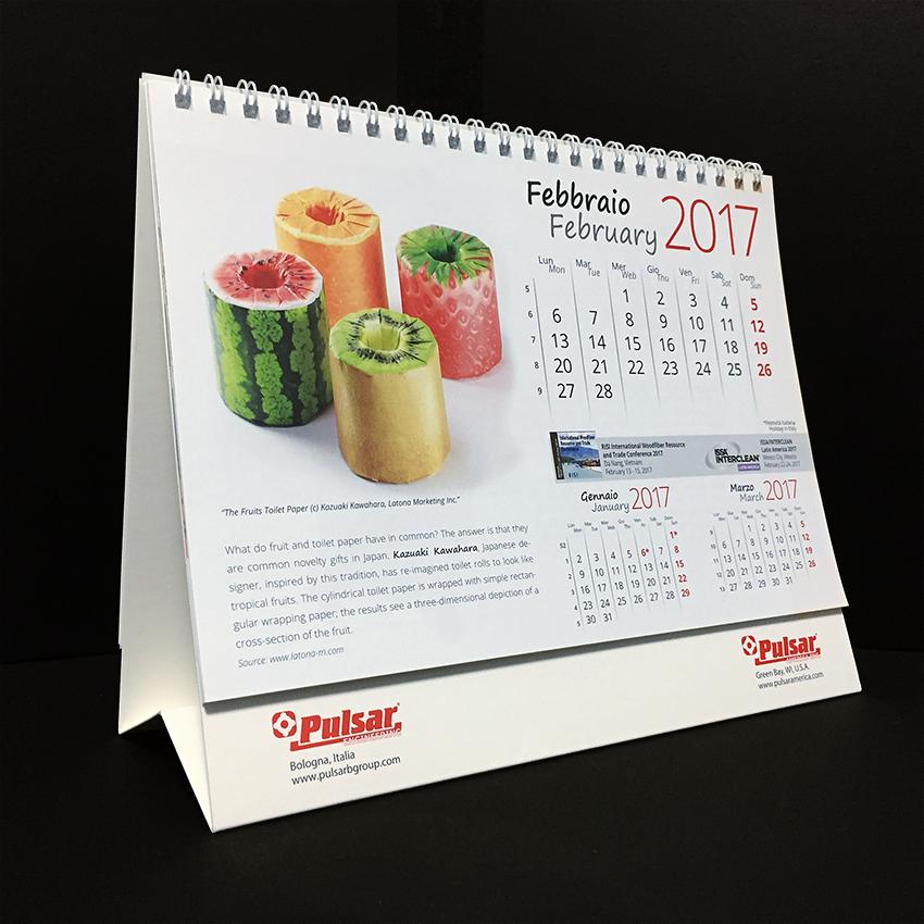 Pulsar社(イタリア)のカレンダーに掲載されました。