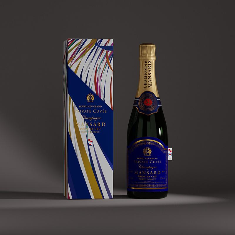 シャンパンラベル・ギフトボックスパッケージデザイン(ホテル・神奈川県横浜市)